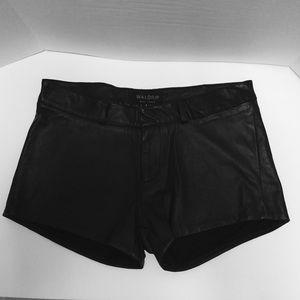 Waldrip 100% Lambskin Leather Shorts Size 6